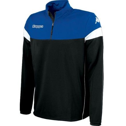 Novare Training Sweat 1/4 Zip Black / Blue Nautic /  White
